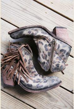 cheetah shorties boots