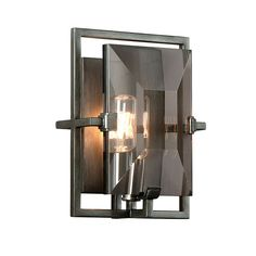 Graphite Prism Wall Sconce