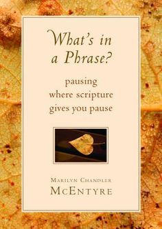 What's in a Phrase?: Pausing Where Scripture Gives You Pause by Marilyn Chandler McEntyre