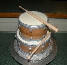 Drumkit Cake Topper Happy Birthday To You Our Band