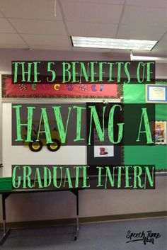 The 5 Benefits of Having a Graduate Intern for Speech and Language.  Perfect read if you are considering taking an intern or taking an intern this school year!