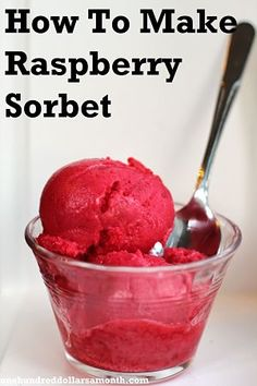 How to Make Raspberry Sorbet. Only I'd probably use something else, like blackberries or strawberries.