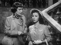 Barbara Billingsley (aka June Cleaver) (L) and Shirley Temple in 'A Kiss for…