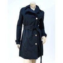 $1775 Stella McCartney Black Cotton Belted Trench Coat - $495