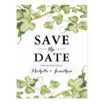 Modern Greenery Botanical Ivy Save the Date Postcard #weddinginspiration #wedding #weddinginvitions #weddingideas #bride