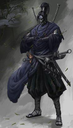 ArtStation - Superb martial arts of the Ninja, Carter adair Arte Ninja, Ninja Art, Ronin Samurai, Samurai Warrior, Real Samurai, Fantasy Character Design, Character Art, Cooler Stil, Samurai Artwork