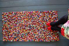 felt 'ball' rug ♥