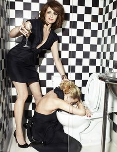 Tina Fey and Amy Poehler....what best buds are for...