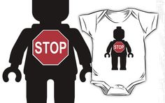 """""""Minifig with Stop Sign by Customize My Minifig"""" Kids Clothes by ChilleeW 