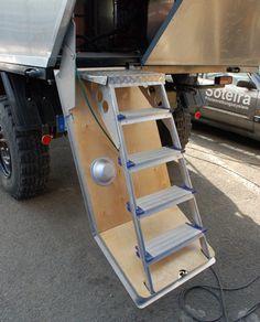 Survival camping tips Build A Camper, Slide In Camper, Truck Bed Camper, Truck Tent, Off Road Camper, Camper Caravan, Camper Trailers, Trailer Build, Trailer Interior