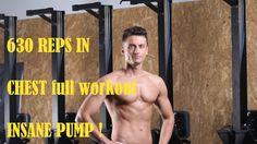 Chest and Calves - 630 REPS - INSANE PUMP !  https://www.youtube.com/watch?v=WPcRqD8QmU0