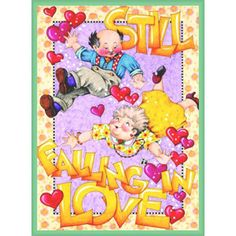 """Still Falling in Love"" Magnet – Mary Engelbreit Studios"