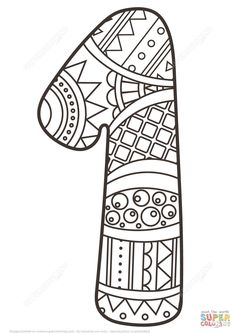 25+ Great Image of Number 1 Coloring Page Number 1 Coloring Page Number 1 Zentangle Coloring Page Free Printable Coloring Pages  #kidscoloringpages #coloringpages #coloringbook