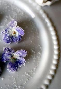 GARDEN PARTY: Sugared Violets