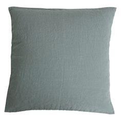 Stone washed linen cushion - Eucalyptus