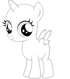 MLP Filly Alicorn Pony Base White comment if you want me to make something specific tell me who made this pony please