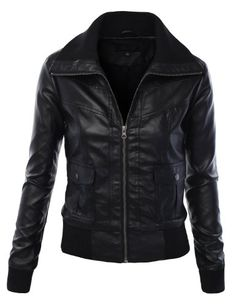 MBJ Womens Faux Leather Zip Up Bomber Jacket With Front Snap Pockets Made By Johnny,http://www.amazon.com/dp/B00IFRO6KK/ref=cm_sw_r_pi_dp_CHVktb135VFERE4C