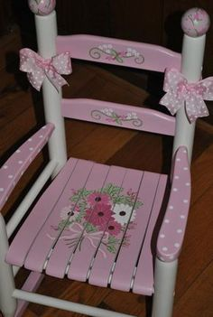66 trendy Ideas for painting furniture diy kids rocking chairs Rocking Chair Nursery, Childrens Rocking Chairs, Nursery Furniture, Kids Furniture, Crate Furniture, Rustic Furniture, Painted Chairs, Painted Furniture, Wooden Chairs