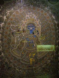 Ornamental Artwork Showing Lord Krishna