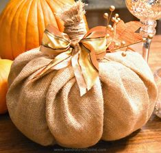 Hometalk | How to Make a Burlap Pumpkin