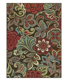 Loving this Brown Floral Didi Area Rug on #zulily! #zulilyfinds