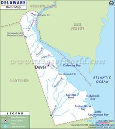 Delaware Cities Map World information Pinterest Delaware