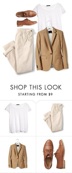 """""""Untitled #452"""" by bojana-687 ❤ liked on Polyvore featuring MANGO, Lands' End, Banana Republic, Gap, white and flats"""
