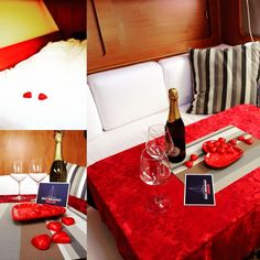 Tutto pronto per una notte romantica in barca a vela... #sanvalentino #BricPaluc #Comet1050 #BoatCagliari #2016 #notte #romantica #cagliari #Anniversarioinbarca