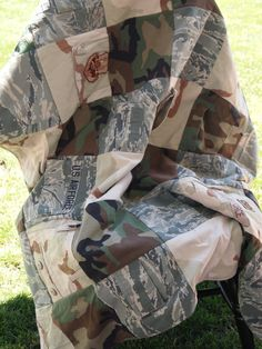 Custom Military uniform memory quilt by QuiltsAndLace on Etsy