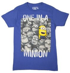 Despicable Me 2 - One in a Minion - T-Shirt (Small, Blue) (843653085228) Cotton Blend Officially Licensed Adult Sizes