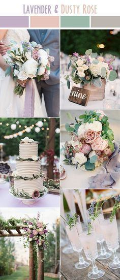 lavender liac and pink rustic spring and summer wedding colors
