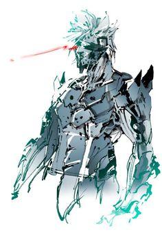 Games Frontier Metal Gear 3, Raiden Metal Gear, Metal Gear Games, Metal Gear Solid Series, Metal Gear Rising, Blade Runner Art, Kojima Productions, Gear Art, Robot Design