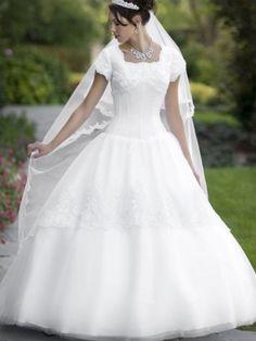 Marico-Robe de Mariée en Tulle avec Dentelle