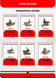 buy katana machines in offer prices at mumbai tattoo. www.mumbaitattoo.com now cash on delivery also available in mumbai tattoo supply. whats up me your order on this no 9029993269 Nadeem