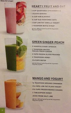 healthy start smoothies