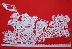 Картина панно рисунок Новый год Вырезание К нам мчится Новый Год  Бумага фото 2