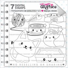 80%OFF - Cat Stamp, Commercial Use, Digi Stamp, Digital Image, Cat Party, Cute Stamp, Pet Clipart, Kitten Clip Art, Kitten Stamp
