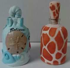 Bottles of Hope (polymer clay)