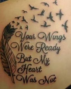 Among the most popular tattoos are those that relate to famous quotes from movies, books, songs etc.Would you like to have some inspirational quote tattoos Tattoo Son, Mom Tattoos, Trendy Tattoos, Small Tattoos, Tattoos For Guys, Tatoos, Ankel Tattoos, Fate Tattoo, Epic Tattoo
