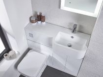 The Match basin with integrated worktop area is extremely practical Minimal Bathroom, Modern Bathroom, Small Bathroom, Bathroom Ideas, Attic Bathroom, Bathroom Designs, White Bathroom Mirror, Bathroom Basin, Bathroom Vanities