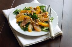ET SKUD C-VITAMIN! Appelsin/grape salat med valnødder
