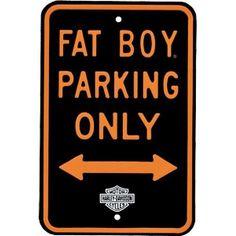 Harley Davidson Fat Boy Parking Only Metal Sign