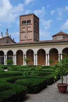 Jardin suspendu, Palais ducal, Mantoue, province de Mantoue, Lombardie, Italie.