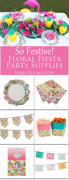 Fabulous Floral Fiesta Party Supplies for the brightest party ever!