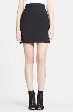 Women's Dolce&Gabbana Stretch Wool Short Skirt