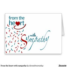 From the heart with sympathy stationery note card