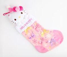 Hello Kitty Musical Christmas Stocking: Pink Plush