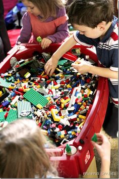 Convert your sand table to a LEGO table as the kids get older.  What baby or toddler toys have you repurposed?