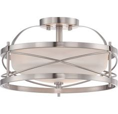 View the Nuvo Lighting 60/5331 Ginger 2 Light Semi-Flush Indoor Ceiling Fixture - 14 Inches Wide at LightingDirect.com.