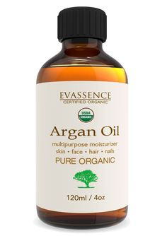 Argan Oil 100% Usda Organic (4oz) Virgin Cold Pressed Moroccan Oil Multipurpose for Hair, Face, Skin and Nails Moisturizing Hair Oil Vitamin E -- Click on the image for additional details.